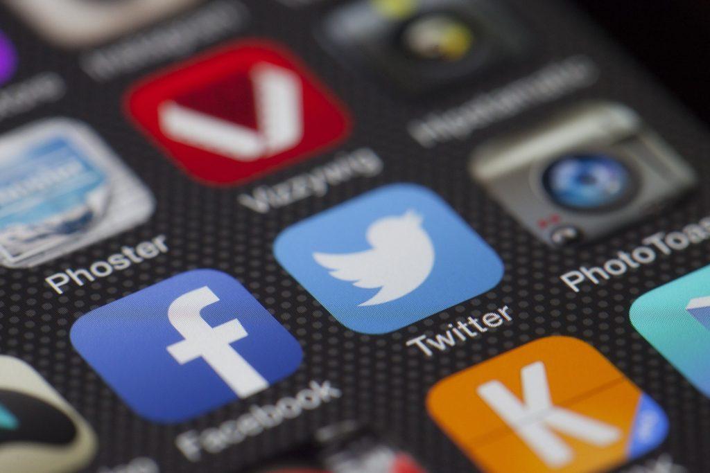 Close up of social media apps