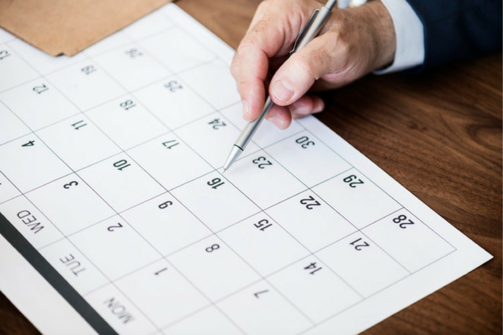 Do your marketing: Content calendar