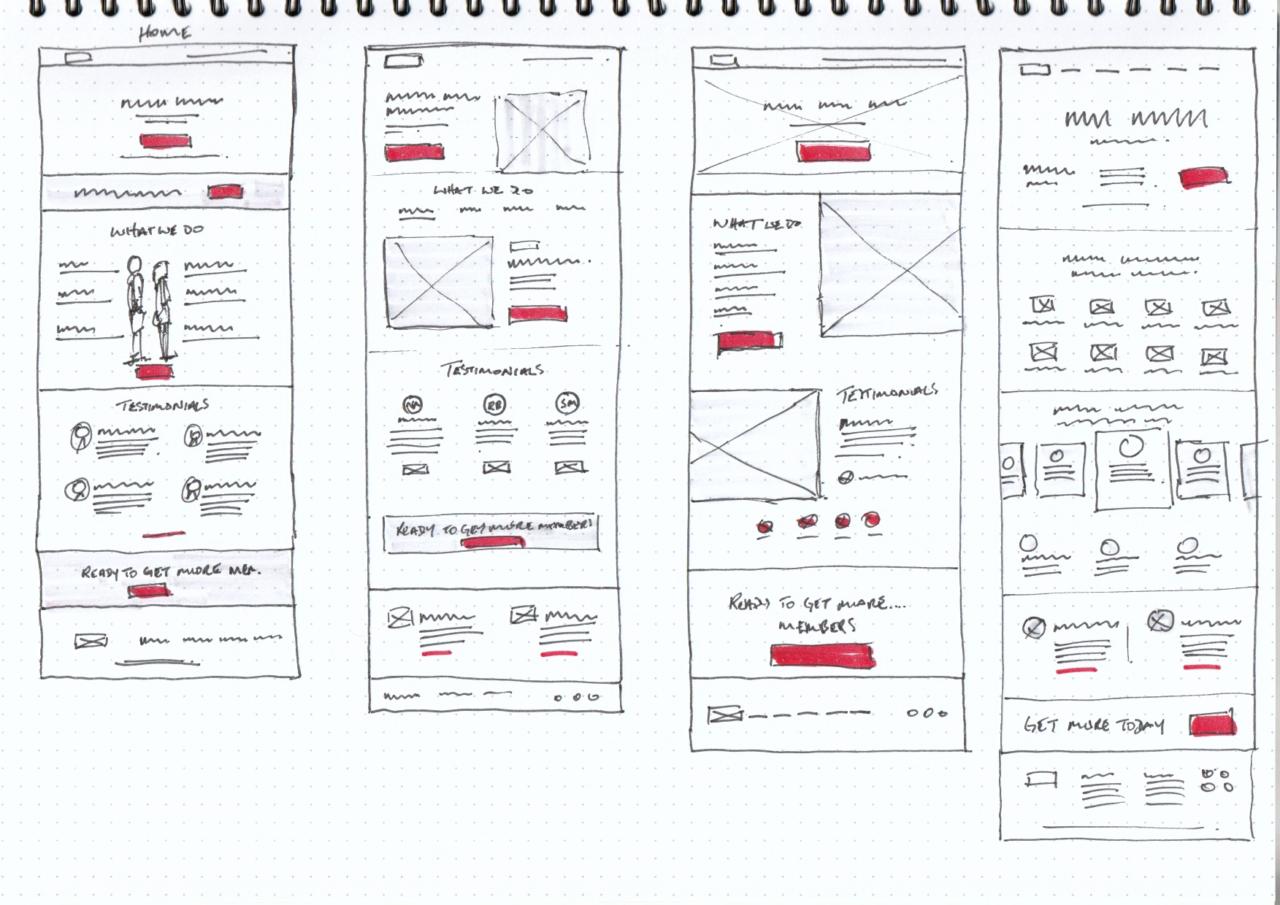 Synergym website sketches